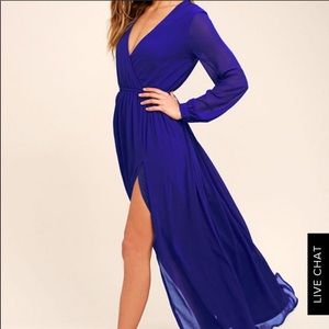 Lulu's Royal Blue Maxi Dress